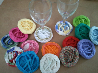 Free Pattern Crochet Wine Glass Holder : Ravelry: ID Wine Glass Coaster pattern by Tibbi Scott