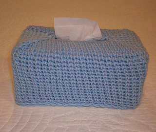 Ravelry Crocheted Knit Stitch Tissue Box Cover Pattern By