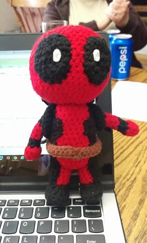 Crochet Wedding Dress Pattern Doll : Ravelry: Deadpool Amigurumi pattern by Sheridan Amb