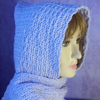 Chainmail Hood Knitting Pattern : Ravelry: Beginner Chain Stitch Hooded Scarf pattern by ...
