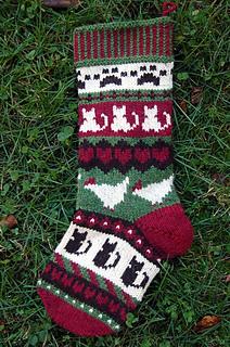 Christmas Stocking Knitting Pattern Ravelry : Ravelry: Pet Love Christmas Stocking pattern by Sarah Hood