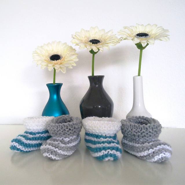 Knitting Patterns Booties From Raverly