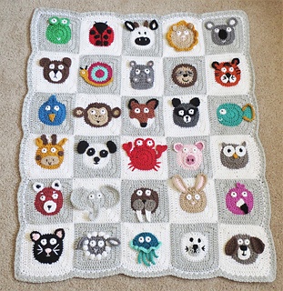 Knitting Patterns Zoo Animals : Ravelry: Zookeepers Blanket pattern by Justine Walley