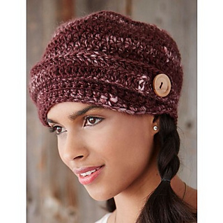 Free Knitting Pattern For Ladies Hat With Brim : Ravelry: Button Brim Cap pattern by Patons