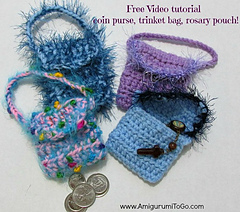 Ravelry Coin Purse Trinket Bag Rosary Pouch Pattern By