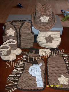 Ravelry Cowboy Set Chaps Vest And Diaper Cover Pattern