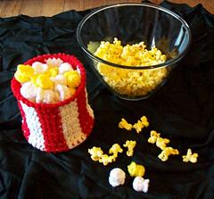 Amigurumi Popcorn Stitch : Ravelry: Crochet Movie Popcorn pattern by Michelle Burton
