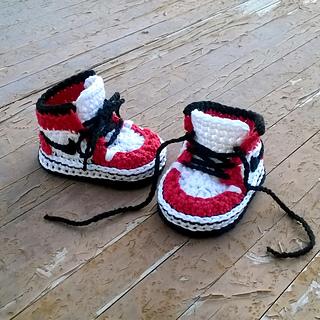 Crochet Jordans : Ravelry: Air Jordans baby sneakers pattern by Showroom crochet