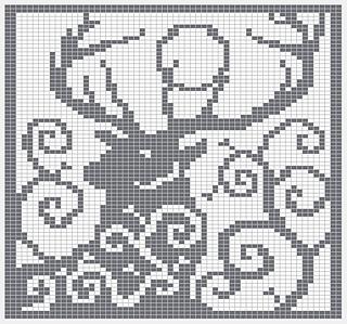 Ravelry Spirit Deer Knitting Chart Pattern By Melanie
