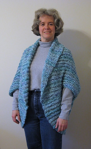 Crochet Patterns Medium Weight Yarn : Ravelry: Simple Crochet Shrug #90689 pattern by Lion Brand Yarn