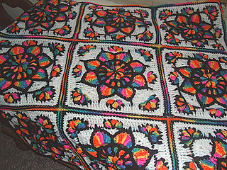 Ravelry Stain Glass Window Star Burst Afghan Square Pattern By Edie Snyder