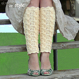 Free Crochet Pattern For Womens Leg Warmers : Ravelry: Cables of Love Legwarmers pattern by BreeAnna Laub