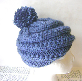 Knit Beanie Pattern Ravelry : Ravelry: Spiral Knit Beanie Pattern pattern by Rhea Allais