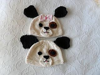 Ravelry: Puppy Dog Baby Hat-Knitted Animal Hat pattern by Susan Gardner