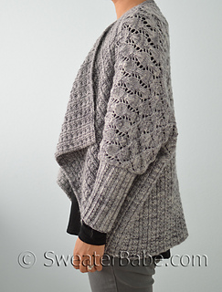 Free Crochet Cardi Wrap Pattern : Ravelry: #205 Two-Way Wrap Cardigan pattern by SweaterBabe