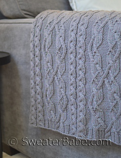 Knitting Pattern For Throw With Cables : Ravelry: #204 Threaded Cables Throw pattern by SweaterBabe