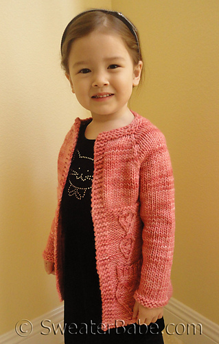 Knitting Pattern Cardigan Girl : Ravelry: #144 Three Flavor Delight Top-Down Cardigan pattern by SweaterBabe