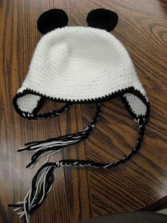 Panda Bear Earflap Hat Crochet Pattern : Ravelry: Panda Bear Hat pattern by Tar3820