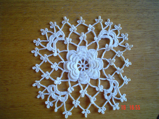 Ravelry Rosette Surrounded By A Squareshaped Ground