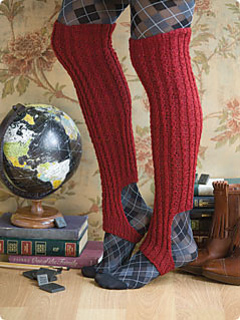 Ravelry: Twist Stirrup Boot Sock pattern by Tilli Tomas