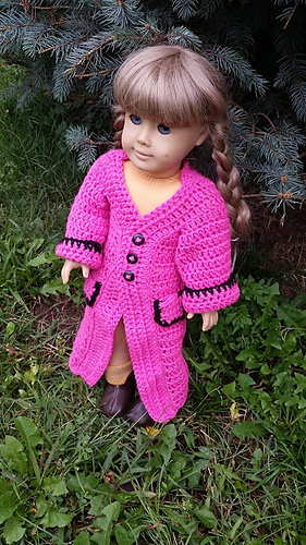 Ravelry American Girl Doll Trench Coat Pattern By Laura