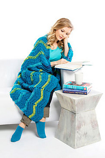 Ravelry tide pool throw pattern by loops threads for Thread pool design pattern