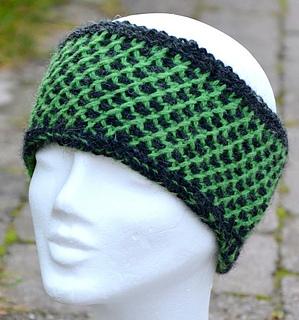 Tunisian Knit Stitch Headband Pattern : Ravelry: Headband in Tunisian cross stitch pattern by Ann Linderhjelm