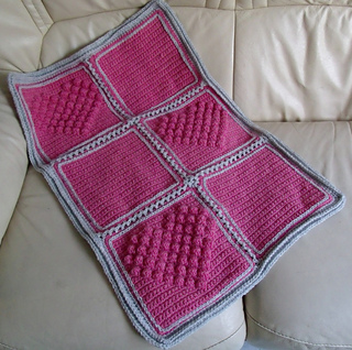 Free Knitting Patterns For Baby Blankets With Hearts : Ravelry: Blanket with Bobble Heart pattern by Thomasina ...