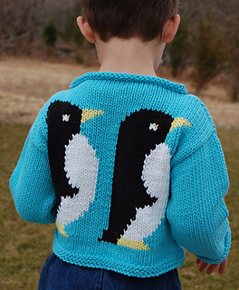 Free Knitting Pattern For Baby Cardigan : Ravelry: Penguin Sweater to Knit pattern by Val Love