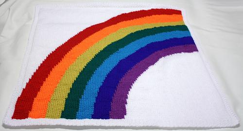 Knitting Pattern Rainbow Baby Blanket : Ravelry: Susies Rainbow baby blanket pattern by Vikki Bird