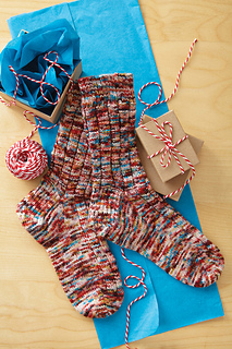Ravelry: #5 Ribbed Socks pattern by Barb Brown