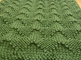 "Ravelry: June 2013 Knit-a-Long 12"" block: Raised Diamond ..."
