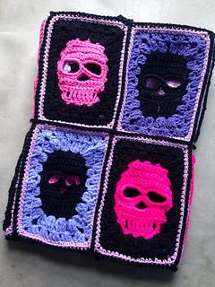 Ravelry Skull Blanket Pattern By Dolly Daydream Crochet