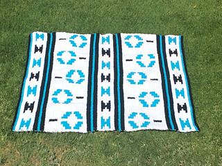 Ravelry Bead Design Afghan Crochet Pattern Native