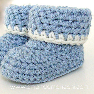 Crochet Baby Booties Written Pattern : Ravelry: Cozy Cuffs Crochet Baby Booties Pattern pattern ...