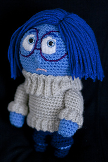 Tristezza Inside Out Amigurumi : Ravelry: Sadness (Inside Out) Amigurumi Pattern pattern by ...