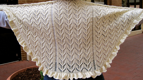 Chevron Lace Shawl Crochet Pattern : Ravelry: Chevron Lace Shawlette pattern by Linda Lehman