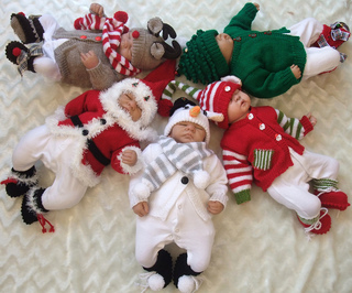 Ravelry Christmas Babies Delightful Outfits In 3 Sizes