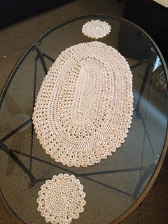 Ravelry Oval Table Lace Placemat And Coaster Pattern By