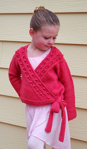 ravelry  sweet blossom ballet wrap and legwarmers pattern by meghan jones
