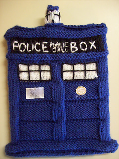 Tardis Bag Knitting Pattern : Ravelry: TARDIS iPad Cover pattern by Ashley Ford