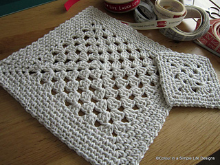 Ravelry simple place mat pattern by p s i crochet for Small square placemats