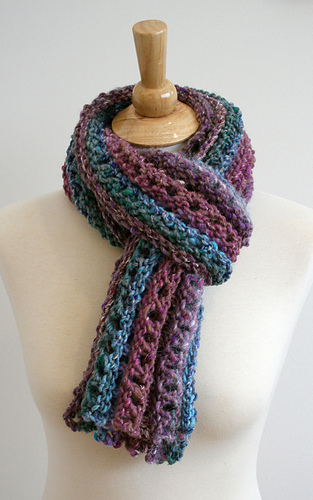 Ripple Stitch Knitting Pattern Scarf : Ravelry: Ripple Chunky Scarf Pattern pattern by Bees Knees Knitting