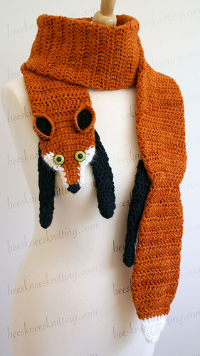 Fox Scarf Knitting Pattern : Ravelry: Fox Scarf pattern by Bees Knees Knitting