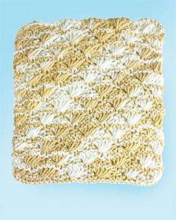 Ravelry: Shell Stitch Dishcloth: Knit pattern by Lily / Sugarn Cream