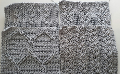 Free Crochet Cable Stitch Afghan Patterns : Ravelry: Cable Crochet Squares pattern by Elizabeth Ham