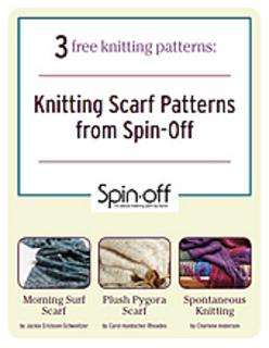 Free Knitting Patterns To Print Off : Ravelry: Spin-Off: 3 Free Knitting Scarf Patterns - patterns