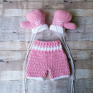 Knitting Pattern Boxing Gloves : Ravelry: Baby Boxer / Boxing Outfit pattern by Briana K Designs
