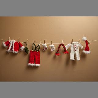 Ravelry Santa S Clothesline Garland Pattern By Rhonda Brewer