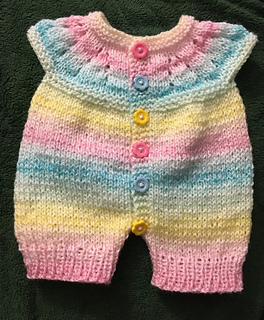 Free Hat Knitting Pattern For 2 Year Old : Ravelry: Mariannas All-in-One Romper Suit pattern by ...